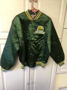NEW Vintage Seattle Supersonics Throwback Satin Jacket Sonics SZ XL Made In USA
