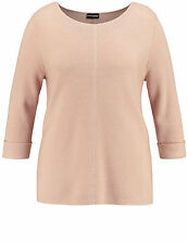 Samoon gerippter Basic Pullover by Gerry Weber 3/4Arm rose Neu Damen Gr.54
