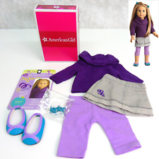 American Girl MCKENNA SCHOOL OUTFIT Sweater Shoes Leggings Skirt Hair Clips BOX