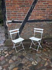 Gartenstühle 2 Stk weiß