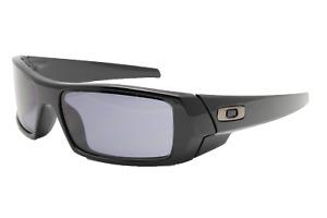 New Oakley Gascan 9014 03-471 Sports UV Protection Wrap Black Genuine Sunglasses