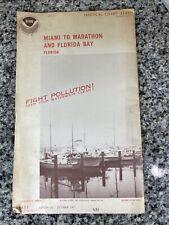 Vtg 1977 FL Miami To Marathon & FL Bay Nautical Chart 11451 Map 15th Ed. NOAA
