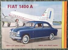 FIAT 1400 uno delle vendite di automobili opuscolo 1954-ref 1233