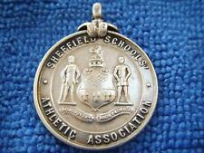 More details for silver sheffield schools athletic association cricket medal 1928 13g free p & p