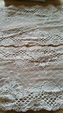 Double edge stretch elastic flower vintage lace trim