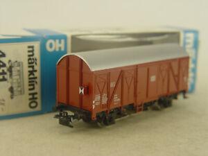 Güterwagen mit Schlusslicht  -   Märklin  HO Wagen 4411 - #5169  #E - gebr.