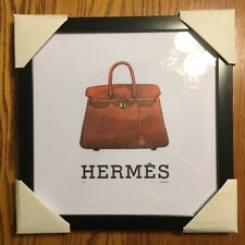 Hermes Fairchild Framed Numbered Birkin Kelly Bag Picture Frame Rare Poster #175