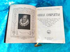 MIGUEL DE CERVANTES SAAVEDRA, OBRAS COMPLETAS, M. AGUILAR 1935