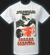 Mens HORROR T-Shirt Horror Hospital Classic B-Movie Poster Film Retro Gore