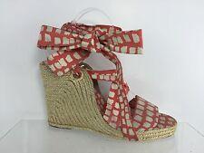 LK Bennett Women's White/Red Wedge Sandals 40