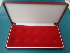 Lovely Red Velvet Sovereign Display Cases. Each holds 10 FULL Sovereigns
