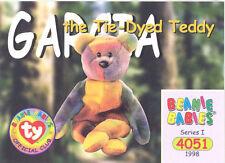 3eb92b8f69e TY Beanie Babies BBOC Card - Series 1 Common - GARCIA the Tie-dyed Bear