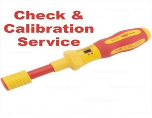 Calibration Service: Draper Torque VDE Screwdriver 81762 Ergo Plus  C1
