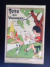 Ancien album à Colorier Toto en vacances