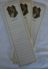 Rough Collie Dog Magnetic NOTEPAD Note List Pads - SET of 3