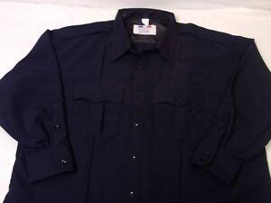 Flying Cross Premier Big & Tall Solid Black Security LEO Uniform Shirt L/S