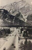 Postcard Banff Alberta, Cascade Mountain Bow River Bridge Canada Vintage H02