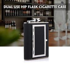 6oz Stainless Steel Cigarette Case Hip-Flask Wine Pot Flagon Bottle & Funnel