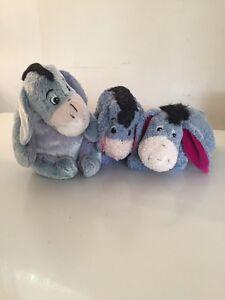 Set of 3 Eeyore Bear Plush Stuffed Animal Winnie Pooh Toy Play Lot Collectible