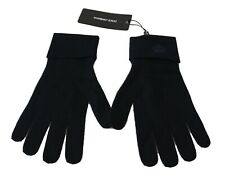DOLCE & GABBANA Gloves Blue 100% Cashmere Knitted Crown Logo s. L RRP $300