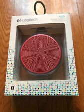 Logitech 984-000373 X100 Rechargeable Bluetooth Wireless Speaker - Purple/Red