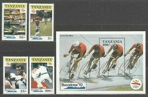 Tansania - Post Yvert 611/4 + H 114 MNH Olympische Spiele Von Barcelona