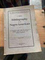 Rare copy of W. E. du Bois Select Bibliography of the Negro American 1905