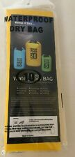 Ocean Pack Dry Bag Sack- 10L - Floating Boating Kayaking Camping - Yellow - NEW