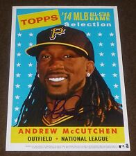 ANDREW MCCUTCHEN SIGNED 2014 TOPPS HERITAGE JUMBO 5x7 ALL-STAR CARD PIRATES AUTO