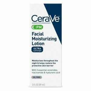 CeraVe PM Facial Moisturizing Lotion   Night Cream with Hyaluronic Acid...