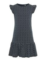 NAME IT kurzarm Jersey Kleid NKFVida dunkelblau Kirschen Größe 110 bis 164