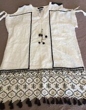 NWT Anthropologie Embroidered Eyelet Tunic Dress Or Cover-up. Size. Large.