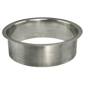 """STAINLESS STEEL TRASH GROMMETS 3"""", 4"""" OR 6"""" SIZES POLISHED FINISH HCI 61"""