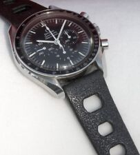 Black rubber 20mm Tropic band type vintage divers watch band 1960/70s big holes
