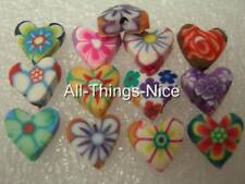 Polymer FIMO Clay 10mm HEART Beads Jewellery Making Craft Spacer Findings 50