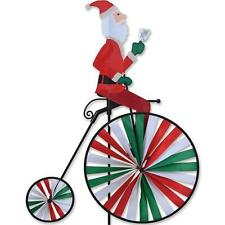 Santa on High Wheel Penny-Farthing Victorian Style Wind Spinner.28. Pr 26526