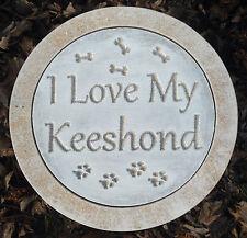 I love my keeshond mold concrete plaster casting plastic mould