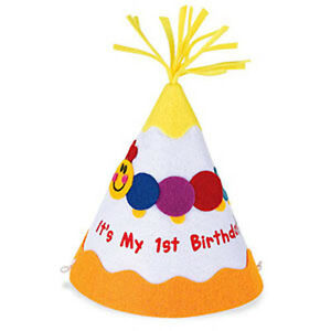 First Birthday Hat Party Hat Cone Shaped by Baby Einstein 1st Birthday party