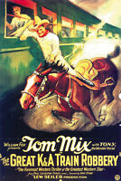 The Great K & A Train Robbery (1926) Tom Mix cult western movie poster print 2
