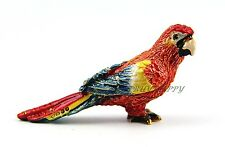 Jay Strongwater Adorable Mini Parrot Coral Red With Swarovski Crystals Brand New