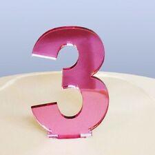 contemporain Numéro 3 gâteau décoration - copié Rose