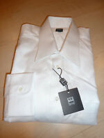 NEW $250 IKE BEHAR Mens Dress SHIRT 16.5 35 white Made in CANADA Cotton BC