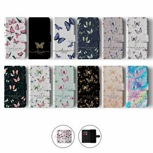 Tirita Personalised Wallet Flip Case for Samsung S10 S9 S8 Butterfly Colourful