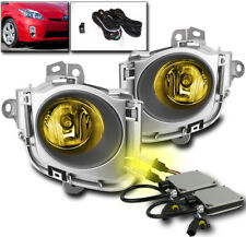 2010 2011 TOYOTA PRIUS BUMPER YELLOW FOG LIGHTS LAMP+HARNESS W/3K HID XENON NEW