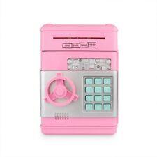 Large Pink Safe Money Box Bank Combination Password Lock ATM Cash Kids Gift Box