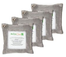 Bamboo Clear-4 x 500g Deodorizer Air Purifiying Silver Bags for Remove Pet Odors