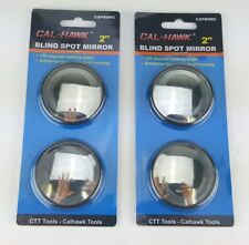 """4 PACK LOT 2"""" BLIND SPOT MIRROR 150 DEGREE REFLECTION ADHESIVE BACK REAR VIEW"""