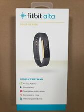 Fitbit Alta Fitness Tracker Special Edition Gold Black Small Used