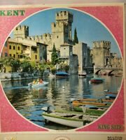 Vintage Kent King Size  Puzzle Round Nearly 1000 Pieces MB 5 Lake Garda, Italy