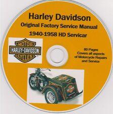 HARLEY DAVIDSON Servicar 1940-1958 Original Factory Shop Repair Manual USAseller